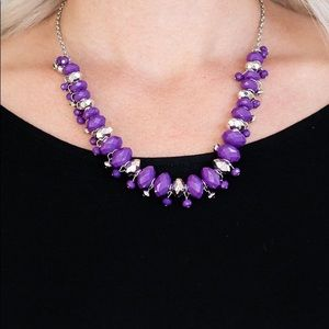 "New! Paparazzi ""BRAGs To Riches"" Purple Necklace"